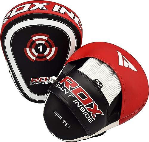RDX Ladies Focus Pads Set MMA Hook and Jab Women's KickBoxing Gloves Bag Mitts C