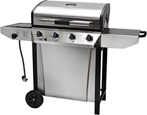 Thermos 480 4-Burner Liquid Propane Gas Grill with Side Burner