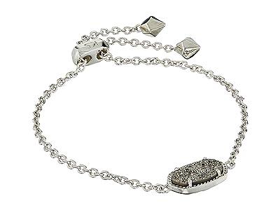 Kendra Scott Elaina Bracelet (Rhodium/Platinum Drusy) Bracelet