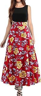 Modaworld Abito da Donna Vintage Vestiti Anni '50 di Alta qualità in Stile Rockabilly con Stampa Floreale
