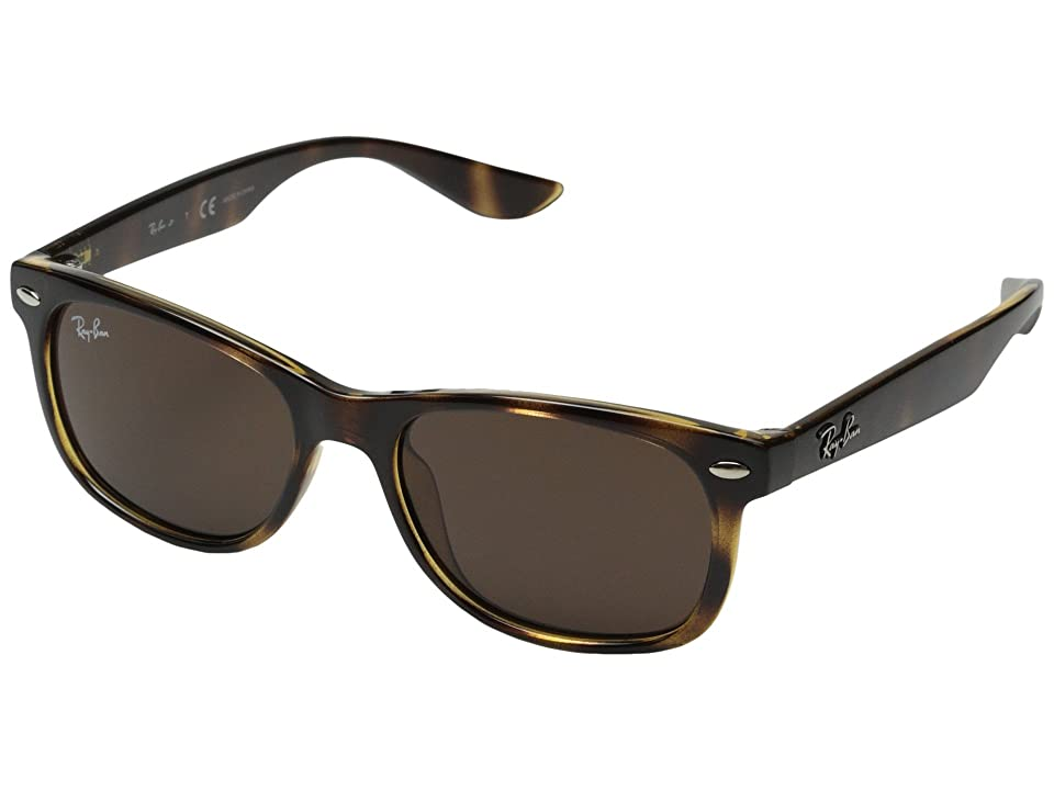 Ray-Ban Junior RJ9052S New Wayfarer 47mm (Youth) (Tortoise) Fashion Sunglasses