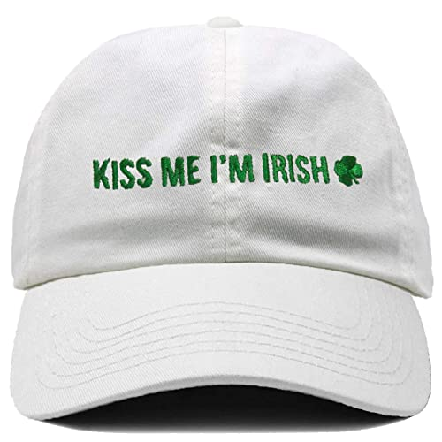 5456848e76426 Funky Junque Irish Shamrock St. Patrick s Day Baseball Cap Unconstructed  Dad Hat