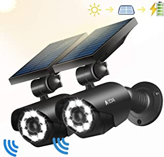 motion activated solar powered led security light with camera