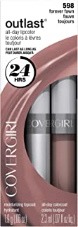 CoverGirl Outlast All Day Two Step Lipcolor, Forever Fawn 598, 0.13 Ounce
