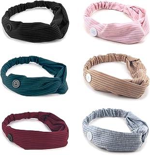 diadema con botones 6 Colores,diademas para mujer,diadema de yoga elastica,diadema con botones enfermera,Antideslizante Tu...
