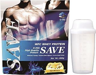 【シェイカー付】SAVE プロテイン やみつきバナナ風味 1kg 美味しいWPC ホエイプロテイン 乳酸菌・バイオペリン・エンザミン酵素配合