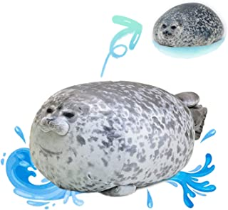 Chubby Blob Seal Pillow, Stuffed Cotton Plush Animals Toy Cute Ocean Plush Pillows
