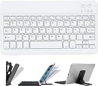 CostaCloud Teclado Inalámbrico Recargable Ultra Delgado Portátil para iPad 2018/iPad 2017/Pro/Air,iPad 2/3/4,iPhone,Androi...