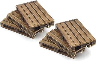 HostelNovo - 6 Unidades de Mini palets de Madera Natural Especial Envejecida Fabricado en España - Ideal para decoración y Posavasos - 12 x 8 x 2,2 cm