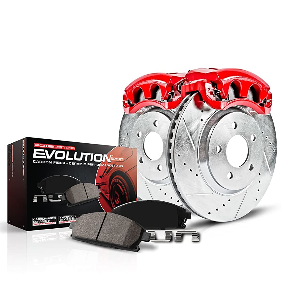 Power Stop KC1215 Z23 Evolution Front Kit Rotors, Pads, Brake Calipers