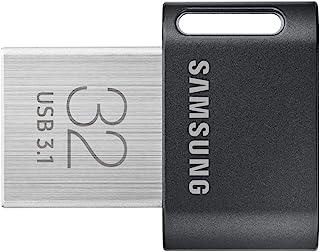 سامسونج MUF-32AB 32GB 3.1 (3.1 الجيل 1) موصل يو اس بي Type-A اسود، ستانلس ستيل فلاش يو اس بي