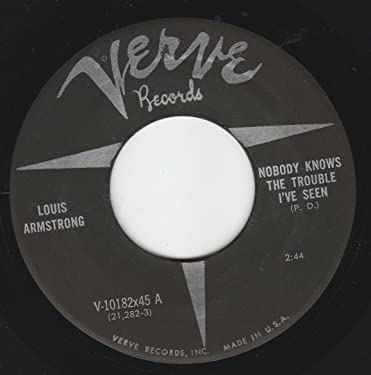 """45vinylrecord Nobody Knows The Trouble I've Seen/That Old Feeling (7""""/45 rpm)"""