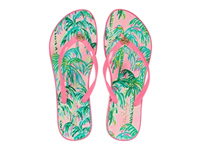 Lilly Pulitzer Pool Flip-Flop (Pink Blossom Suite Views Shoe) Women