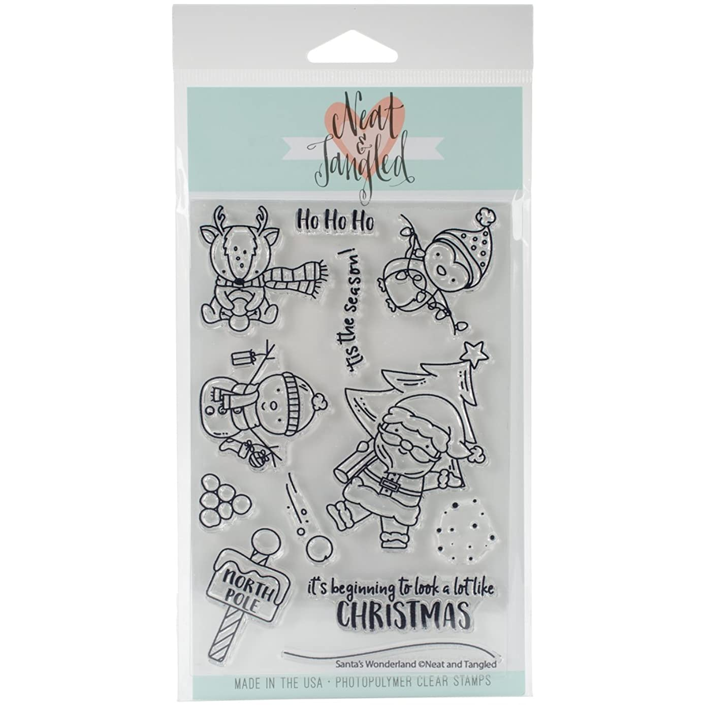 Neat & Tangled Santa's Wonderland Clear Stamps, 4