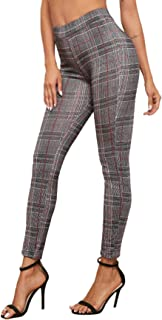 SOLY HUX Women's Stretchy High Waist Slimming Leggings Tights Yoga Pants