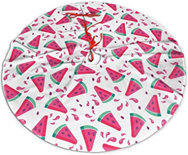 DaLmo Home Watermelon in Summer Christmas Tree Skirt Mat Christmas Holiday Party Seasonal Decorations