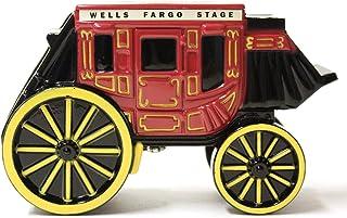 "Wells Fargo Coin Bank, Metal Stage Coach Coin Bank, Locking Coin Bank 5"" x 3"""