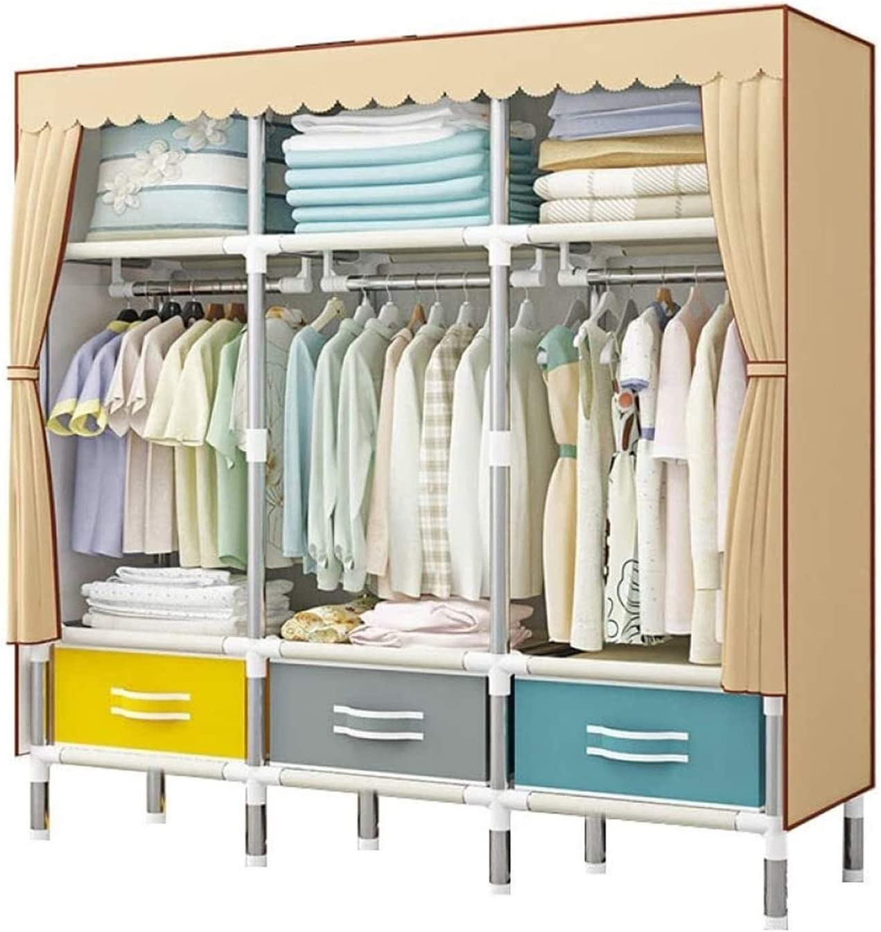 High quality new LLCY Portable Closet Wardrobe Selling rankings Clothes