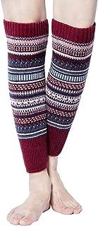 Womens Winter Warm Cable Knit Leg Warmers Crochet Knitted Long Boot Cuffs Socks