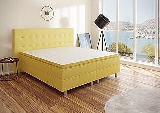 BEST FOR YOU-Boxspring RIO Barcelona 5 zones avec lit Visco Topper H3 de première classe de différentes couleurs et tailles