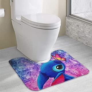 Lil-o Love Stitch Comfortable Rug Bath Contour Toilet Floor Rug Non Slip Bathroom Mat Rugs