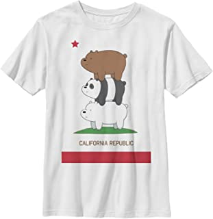 We Bare Bears Boys' California Republic Bear Stack T-Shirt