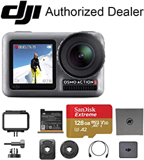 DJI OSMO Action – Dual Touch Display Waterproof Digital Action Camera with 4K HD Video 12MP Photos Live Streaming Stabilization (128GB Memory)