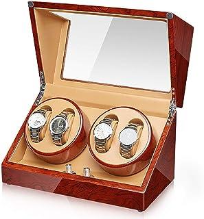 SZLJF - Auatic Caja de Cuerda para Reloj de Pulsera Auatic 4 epítopes Caja de Cuerda para Reloj Motor silencioso Caja de Reloj Organizador de Caja Pantalla para Hombres y Mujeres, 5 Modos de rotación Ajuste