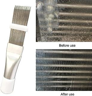 HTYG 2pcs Cepillo de Peine de Aleta del radiador para el evaporador del Condensador de enfriamiento del Aire Acondicionado-Limpiador Herramienta de reparación Cepillo de Limpieza de Metal Accesorio