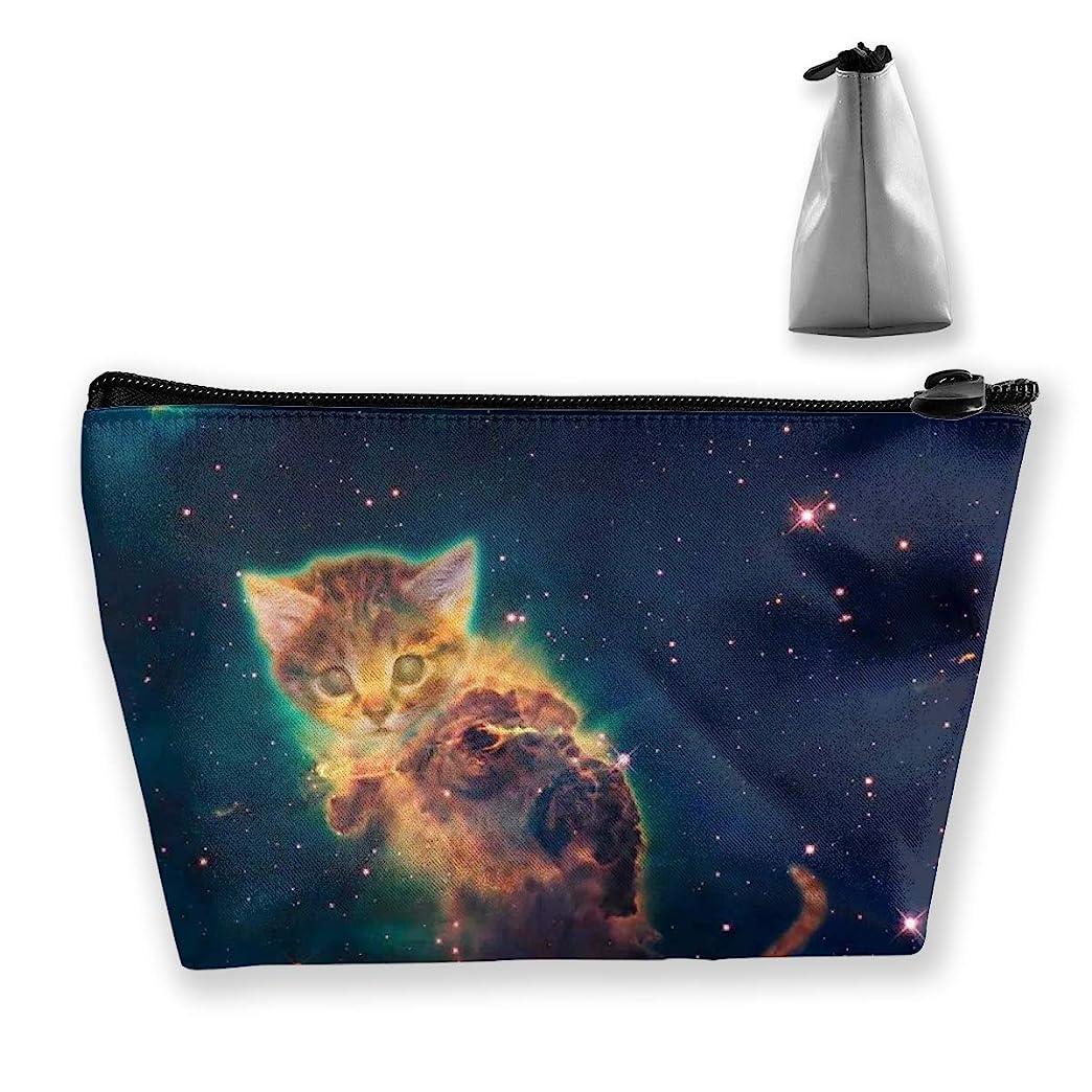 豊富吸収剤オピエートSzsgqkj 星空の猫 化粧品袋の携帯用旅行構造の袋の洗面用品の主催者