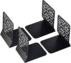 Economy Office Book Holder Bookends, Black, 8 Inches, Pack of 2