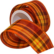 Morex Ribbon Abundance Ribbon, 2-1/2 in x 3-Yd, Pumpkin