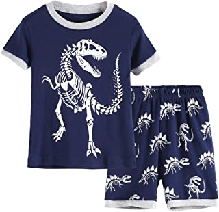 Hsctek Kid and Toddler 2-Piece Cotton Boys Pajamas Set (Toddler-9 Years)