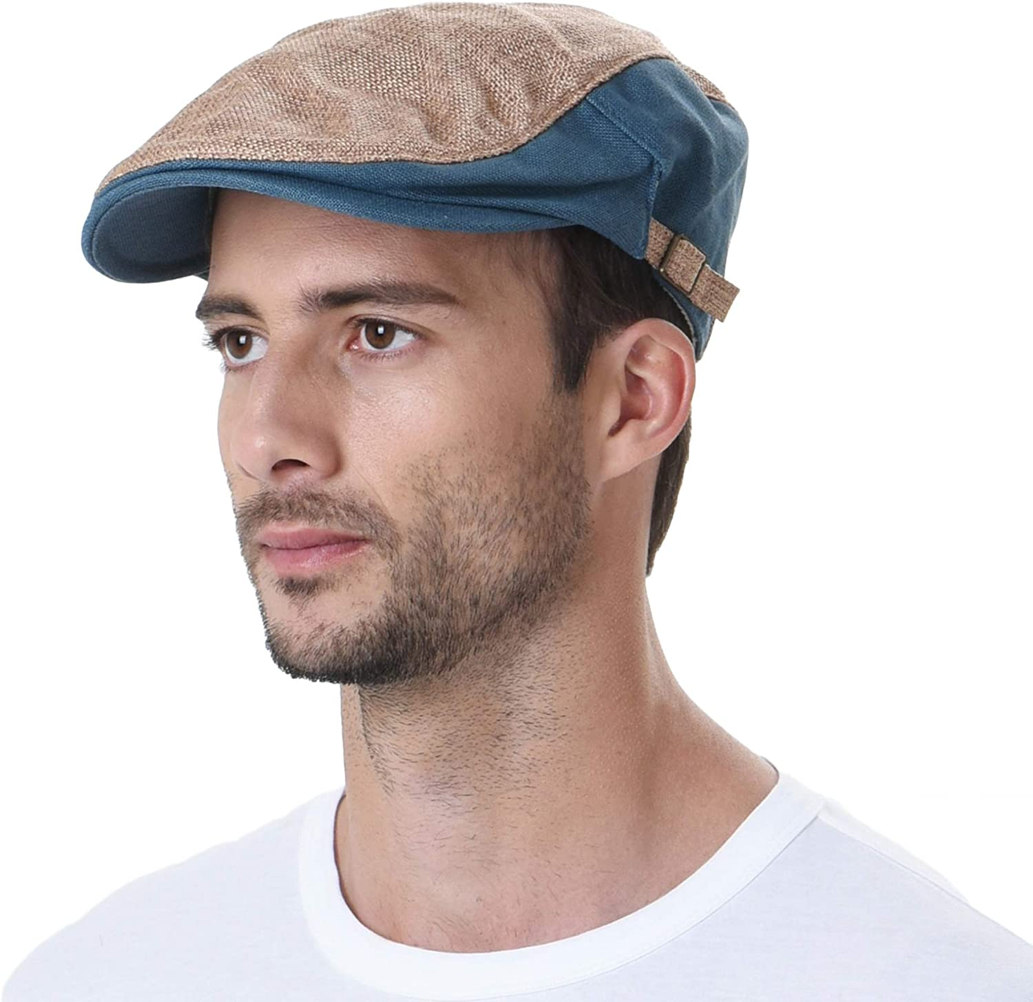 WITHMOONS Two Tone Chicago Portland Mall Mall Block Summer Hat Cap Newsboy Flat AC3046