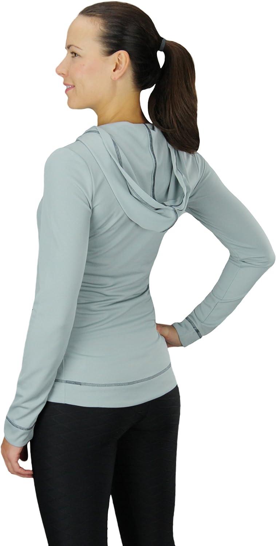 Alo Yoga Athletic Womens Half Zip Active Performance Long Sleeve Lightweight Hoodie