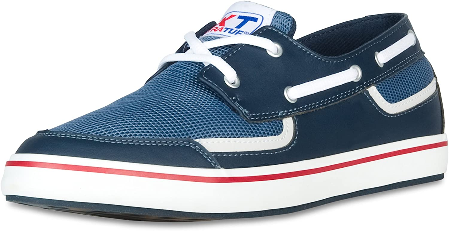 XTRATUF blueefin Men's Microfiber Leather Deck shoes, Navy (22605)