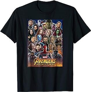 Marvel Avengers Infinity War Team Headshots Graphic T-Shirt