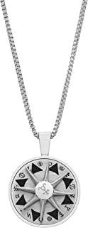 Tateossian Stainless Steel Talismanic Amulet Necklace, Silver