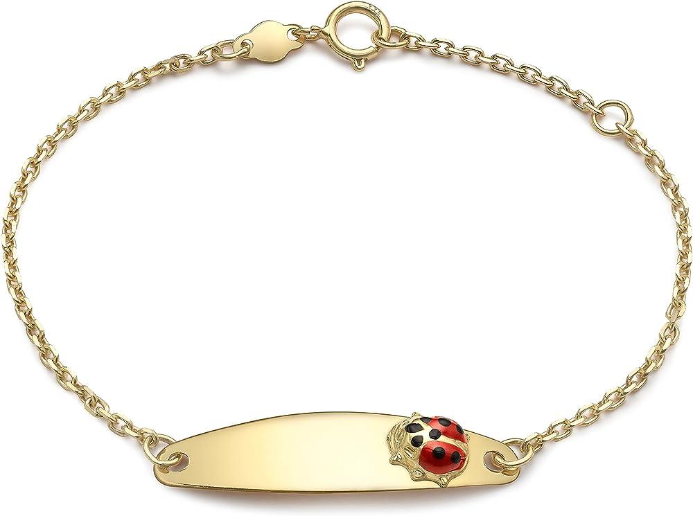 Carissima gold, bracciale per donna,in oro giallo a 9k (1,05 gr),bracciale portafortuna 1.29.6040