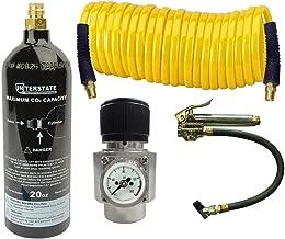Interstate Pneumatics WRCO2-TF2 CO2 Regulator, Recoil Hose, TF3135 Tire Inflator and 20 Oz. CO2 Cylinder