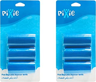 Pixie Disposable Dispenser Refill, Blue, Pack of 2