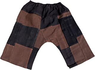 Raan Pah Muang Brand Patchwork Warm Cotton Childrens Baggy Crotch Quilted Pants