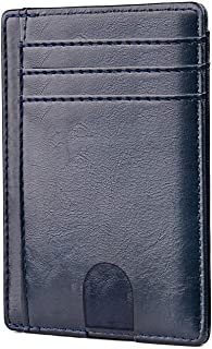 Apsung Minimalist Wallets,Card Wallets for Men & Women RFID Front Pocket Leather Thread Wallets