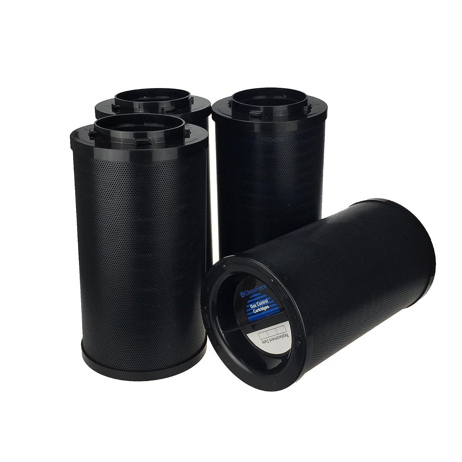 CleanForce MultiGas Cartridges Replacement Filter, Include Post-Filter Sleeves, 4 Pack, Adapt IQAir GC MultiGas Air Purifier