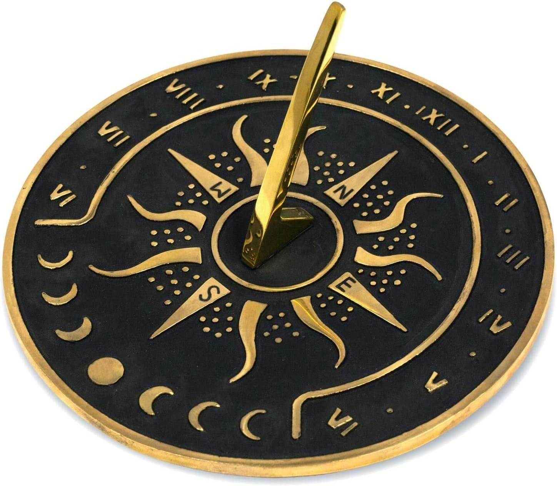 "Nautical-Mart Brass Garden Store Sundial Diameter Atlanta Mall 8.5"" - Clock"