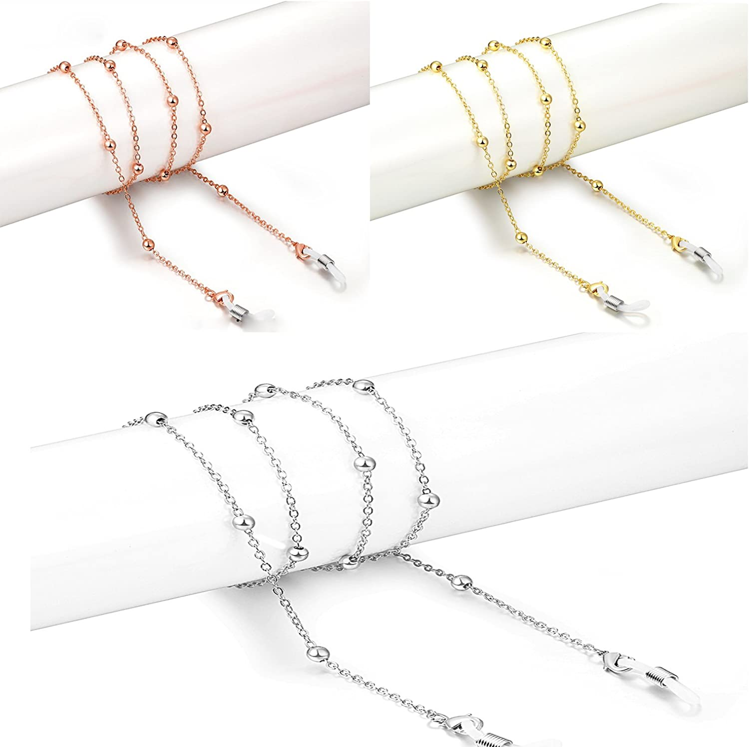 18K Gold Plated Glasses chain for Women(Thick Plating Layer