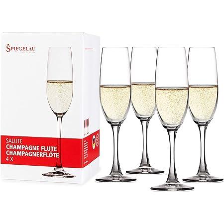 シュピゲラウ(Spiegelau) サルーテ ワイングラス シャンパンフルートグラス 210ml 4720175 4個入