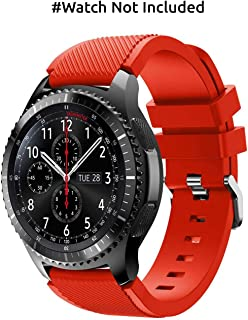 Hamee Gear S3 Frontier/Classic Watch Band, Soft Silicone Sport Strap for Samsung Gear S3 Frontier / S3 Classic/ 46mm Smart Watch - Red