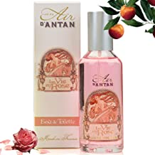 Premium French Cologne ROSE – Un Air d'Antan Exclusive Sweet Glamourous Perfume : Delicate Blend of Rose, Peach and Patchouli - Made in France in Grasse 1.93 fl oz.- A Romantic Floral Fragrance