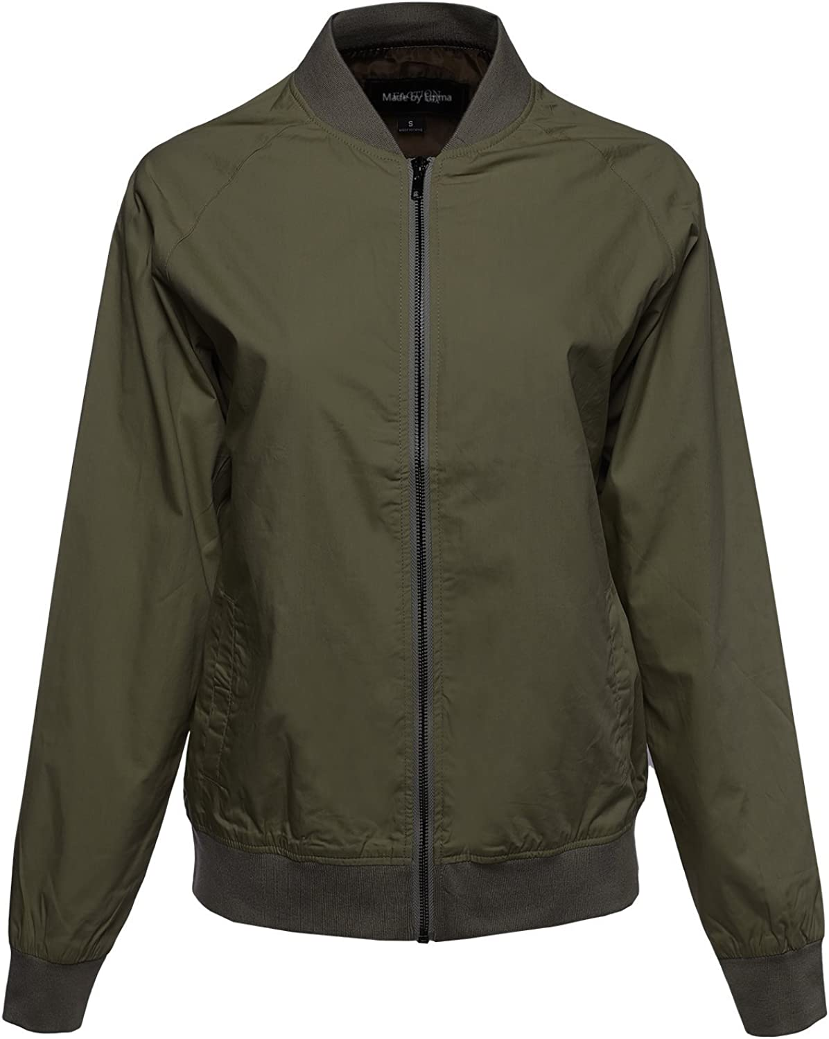 Made by Emma MBE Women's Classic Style Zip up Short & Long Bomber Jacket